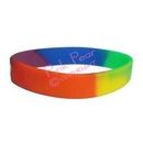 rainbow silicon wristband