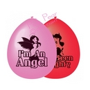 angel & naughty devil hen night balloons