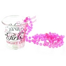 girls night out shot glass on bead necklace