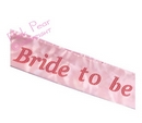 bride to be pink satin sash