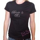 black standard fit rhinestone crystal hen night t shirt