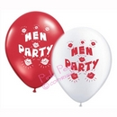 hen party balloons - red & white