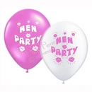 hen party balloons - pink & white