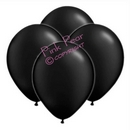hen party balloons - metallic black (10)