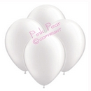 hen party balloons - pearlised white (10)