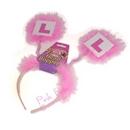 pink headband bopper - l plate