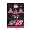 pack of 7 hen night triangular badges