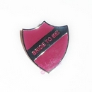 pink hen party retro enamel school badge - bride to be