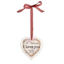 rustic wooden heart shaped decoration