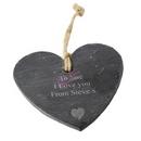 heart motif slate heart