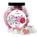 love hearts monster sweet jar