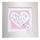 heart stitch perfect love canvas