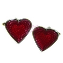 red hearts card suit cufflinks