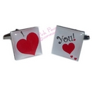 big heart I love you cufflinks