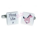 hung like a horse cufflinks