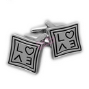 square love cufflinks