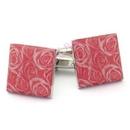 pink rose cufflinks