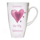 heart tall latte mug