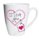 heart stitch I love you small latte