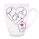 heart stitch love small latte mug