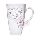 heart stitch love large latte mug