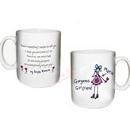 purple ronnie gorgeous girlfriend mug