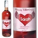 rose wine heart label