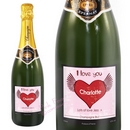 big heart champagne label