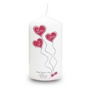 heart balloons candle