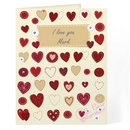 fabric hearts design card