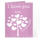 love grows card pink