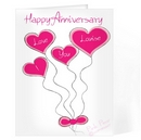 I love you balloons card