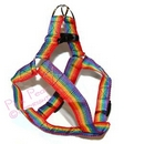 rainbow pet harness