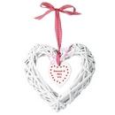 wooden wicker heart with inner hanging heart design