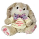 Cream Bunny With Pink Thread