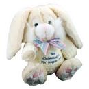 Cream Bunny With Blue Thread