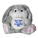 Grey Bunny With Blue Thread