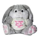 Grey Bunny With Pink Thread