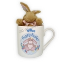 Easter Bunny Mug With Cuddly Bunny Toy