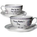 Floral Birds Tea Cup && Saucer