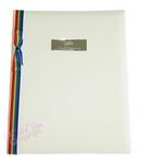 civil ceremony album with rainbow ribbon