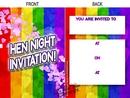 rainbow pride hen night party invitations (8)