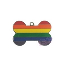 rainbow pet tag - dog bone