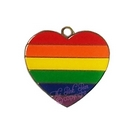 rainbow pet tag - heart