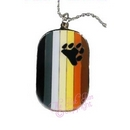 bear flag dog tag