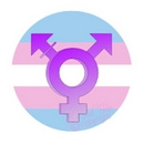 super size transgender button badge