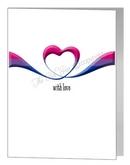 bisexual ribbon heart card