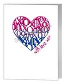 bisexual xox loveheart card
