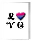 bisexual LOVE card