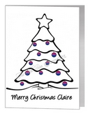 bisexual christmas bauble tree card